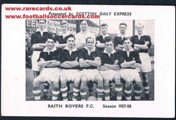 1955 Scots Daily Express Raith Rovers